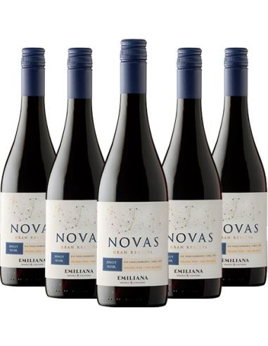 Pack 6 Novas, Gran Reserva, Pinot Noir, Viña Emiliana