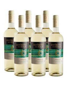 Pack 6 Sauvignon Blanc, Reserva, Intrépido, Espíritu de Chile