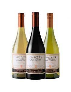Pack 6 Bot Mix Chardonnay, Sauvignon Blanc, Pinot Noir, Marques de Casa Concha, Viña Concha y Toro