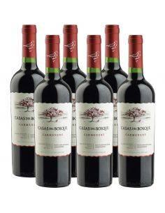 6 Botellas Carmenere, Reserva, Viña Casas del Bosque, Valle de Rapel