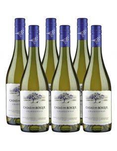 Pack 6 vinos Chardonnay, Reserva, Viña Casas del Bosque