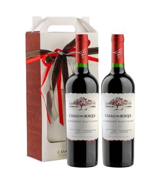 Pack 2 vinos Cabernet Sauvignon, Reserva, Viña Casas del Bosque, Valle de Rapel