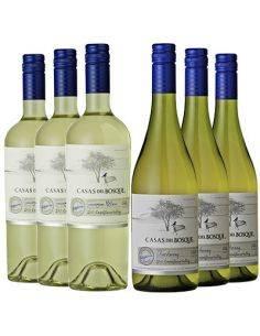 Pack 12 Sauvignon Blanc 2017 y Chardonnay Reserva 2015 Reserva, Viña Casas del Bosque