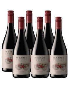 Pack 6 vinos Pinot Noir, Reserva, Manos Andinas, Trasiego Wines