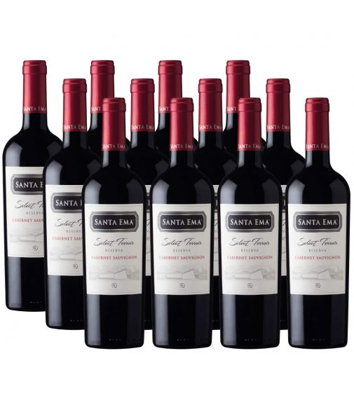 Pack 12 vinos Cabernet Sauvignon, Select Terroir, Viña Santa Ema