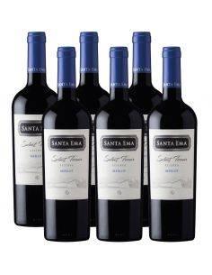 Pack 6 vinos Merlot, Select Terroir, Viña Santa Ema