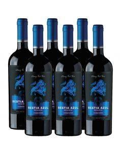 Pack 6 vinos Carmenere, Bestia Azul, Reserva, Bestias Wines
