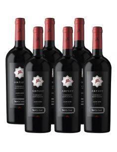 Pack 6 vinos Cabernet Sauvignon, Amplus, Premium, Viña Santa Ema