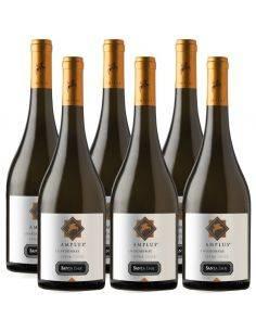 Pack 6 vinos Chardonnay, Amplus, Premium, Viña Santa Ema