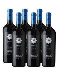 Pack 6 vinos Merlot, Amplus, Premium, Viña Santa Ema