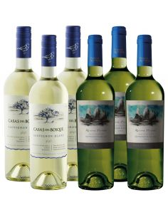 Pack Mix 6 Bot Sauvignon Blanc Reserva Viña Casas del Bosque y Puente Austral Wines