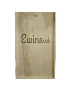 Caja de Madera ewine.cl para dos botellas de vino