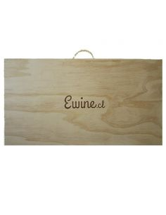 Caja de Madera ewine.cl para Seis botellas de vino