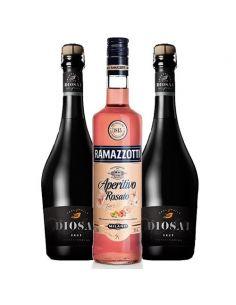 Pack Ramazzotti Rosato con espumantes premium