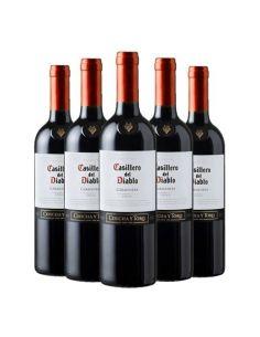 Pack 6 vinos Carmenere, Casillero del Diablo, Reserva, Viña Concha y Toro