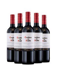 Pack 6 vinos Cabernet Sauvignon, Casillero del Diablo, Reserva, Viña Concha y Toro