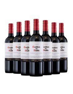 Pack 12 vinos Cabernet Sauvignon, Casillero del Diablo, Reserva, Viña Concha y Toro