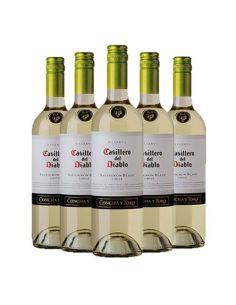 Pack 6 vinos Sauvignon Blanc, Casillero del Diablo, Reserva, Viña Concha y Toro