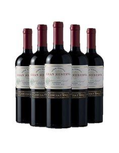 Pack 6 vinos Carmenere, Serie Riberas, Gran Reserva, Viña Concha y Toro