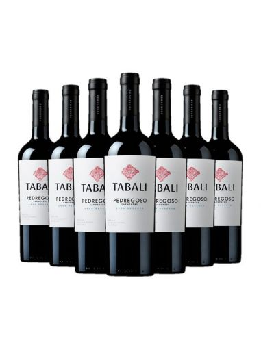 12 vinos Tabali Pedregoso, Carmenere, Gran Reserva Viña Tabali